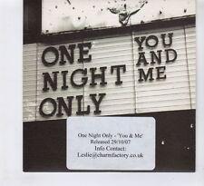 (HC909) One Night Only, You & Me - 2007 DJ CD