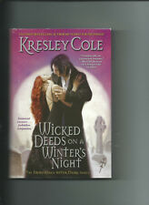 Wicked deeds on A Winter's Night By Kresley Cole VGC Hardcover /DJ Immortals