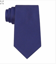 $125 CALVIN KLEIN Mens BLUE SOLID SLIM DRESS NECK TIE CLASSIC SILK NECKTIE 58X3