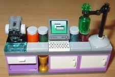 Lego City-Friends-Wissenschaftler Labor  -  Mikroskop, Chemikalien etc