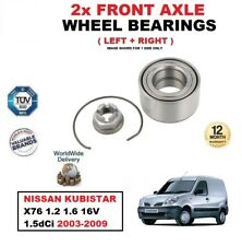 FOR NISSAN KUBISTAR X76 1.2 1.6 16V 1.5dCi 2003-2009 FRONT WHEEL BEARINGS SET