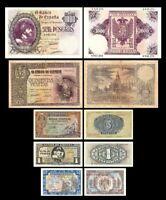 2x  1, 1, 5, 500, 1.000 Pesetas - 2. Edición 1940 - Reproducción - 17