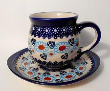 TOP Kaffee / Tee Tasse Untertasse / Unterteller Bunzlauer Keramik 300 ml (ta31)