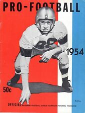 1954 Official National Football League Pictorial Yearbook magazine,  Good