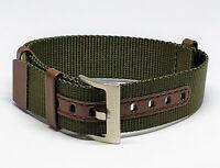 Original Hamilton Khaki Field 20mm Brown /Green Nylon Watch Band Strap H69439512