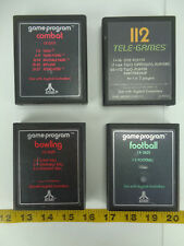 Lot of 4 Vintage Atari 2600 Video Games Football Bowling Space Invaders Combat C