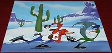 WARNER BROS CHUCK JONES WILE E COYOTE ROADRUNNER ICED TEASE CEL PROMO CARD
