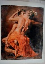 TOMASZ RUT SUSPIRE GICLEE ON CANVAS SIGNED/# W/COA 30 X 38 INCHES STUNNING