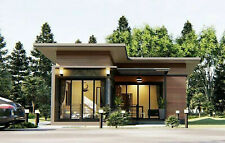 Custom Tiny House Home Building Plans 2 Bedroom 2 Bathroom With Garage & CAD Fil