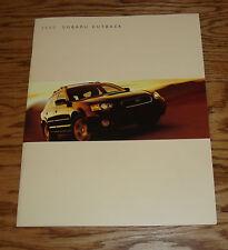 Original 2005 Subaru Outback Deluxe Sales Brochure 05
