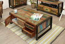 Rectangle Wood More than 200cm Coffee Tables with Drawers