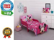 4-Piece Minnie Mouse Toddler Bedding Set for Gift easy to clean Kids Happy