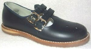 NEW AMILIO SKIPPER NAVY LEATHER TODDLER GIRLS MARY JANE SHOES 9 M