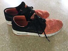 stefan janoski mens sneakers black orange sz 9.5 zoom air