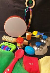 EYFS Huge musical instruments cymbals,shakers, drum, beanbag and props preschool