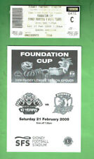 #D385.  2009 FOUNDATION CUP RUGBY LEAGUE PROGRAM & TICKET