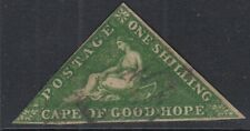 Cape of Good Hope Triangle 1855-63 1s Bright Yellowish-Green. SG8. Cat £300-used