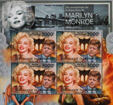 MARILYN MONROE & JFK Kennedy / New York Brooklyn Bridge Stamp Sheet/2012 Burundi