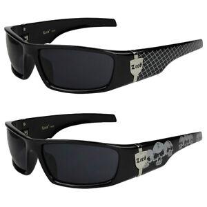 2er Pack Locs 9069 Choppers Motorrad Brille Sonnenbrille Herren Damen schwarz