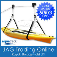 AQUATRACK GARAGE STORAGE HOIST - KAYAK/CANOE/SUP/SURFBOARD/BICYCLE/BIKE RACK