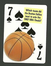 Los Angeles Lakers Win 1965 NBA Basketball Finals Neat Playing Card #5Y6