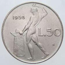 REPUBBLICA ITALIANA - RARA MONETA DA 50 LIRE - 1956