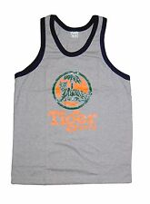 Tiger Beer Singlet Vest Top Grey size S **UK STOCK** New