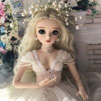 Mädchen GESCHENK Puppen 1/3 BJD Puppe Doll Braut Augen Make-up Brautkleid Girls