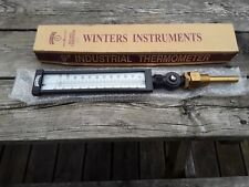 """Winters Instruments 9"""" Industrial Thermometer . Heating . Hydronics"""