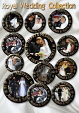 PRINCE HARRY~MEGHAN MARKLE BUTTON BADGES~ ROYAL WEDDING DAY SOUVENIR ~SET OF 12