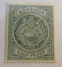 ANTIGUA Scott #31 * MH, ½ penny, Lion & Unicorn , fine - very fine + 102 card