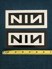 NINE INCH NAILS Vinyl The Fragile 2002 NIN Rare Promo Hype Sticker Set Of Two