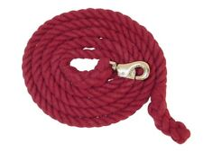 """Lami-Cell Cotton Lead Rope Brass Plated 24/"""" Stud Chain Bolt Snap Red"""