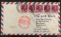 1930 Seville Spain Graf Zeppelin First Flight Cover to Lakehurst NJ USA LZ127