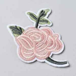 ROSE FLOWER IRON ON / SEW ON EMBROIDERED PATCH For T-shirt Jeans Bag DIY