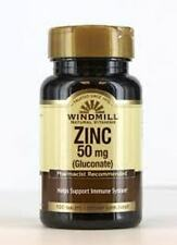 Zinc Tab Gluconate 50 mg WindMill, 100 Ct (3 Pack)