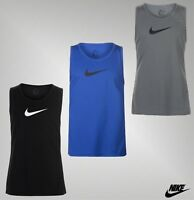 Mens Genuine Nike Lightweight Dri Fit Cross Over Tank Top Round Vest Size S-XXL