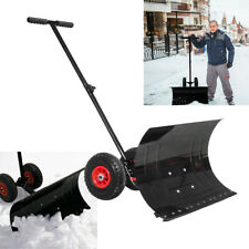 Schneeschaufel mit Rädern Schneeschild Schneeschieber Schneeräumer Schneepflug