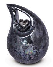 Ceramic Cremation Ashes Urn / Casket - Graphite & Grey Glaze INCREDIBLY NATURAL