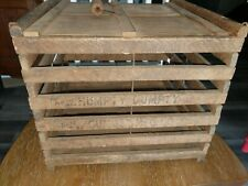 Vintage Humpty Dumpty Wooden Egg Crate Pat date Feb 1894 to 1905 (Very nice )