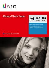 A4 Photo Paper  High Glossy 180Gsm For Inkjet Paper Printing - 100 Sheets Uinkit