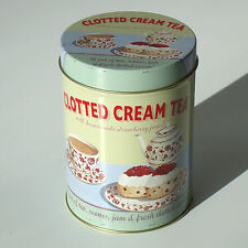 RETRO ROUND STORAGE TIN CREAM TEA - MARTIN WISCOMBE - HOME GIFT