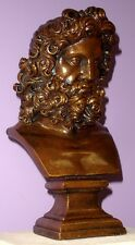 Greek Roman Art Zeus Bust Home Decor Sculpture Statue Antique Reproduction