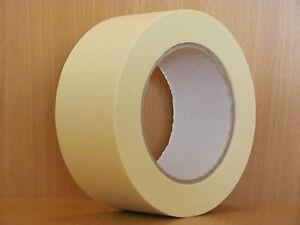 BBK-K80 / 16 x Abdeckband 60 mm x 50 m Lackiererband Kreppband Abklebeband 80°C