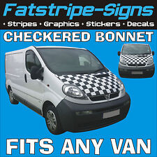 FORD TRANSIT ST CHECKER BONNET GRAPHICS STICKERS DECALS MX RACE VAN MOTOCROSS