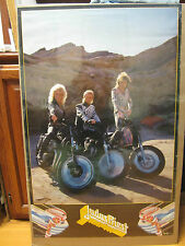 Judas Priest motorcycle biker rock n roll original 1986 Vintage Poster 429