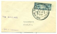 1926 SCARCE U.S. CAM FLIGHT COVER 10S8 TAMPA,FL TO MIAMI,FL FLORIDA AIRWAYS