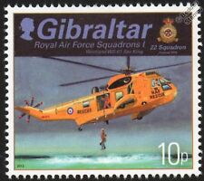 RAF WESTLAND SEA KING Helicopter (22 Squadron) Aircraft Stamp (2012 Gibraltar)