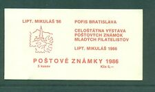 Czechoslovakia 1986 5k Mikulas 86 red cover with communist party stamps Booklet