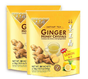 Prince of Peace® Instant Lemon Ginger Honey Crystals (30 Sachets) Pack of 2